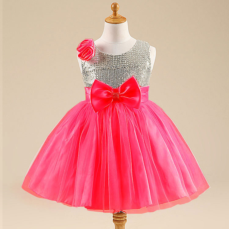 Us 1816 2015 Top Fashion Promotion Vestidos Meninas Original Single Girls Princess Dress Tutu Sequin Roses Children A Generation Of Fat In Dresses