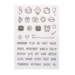 Free shipping transparent clear stamp diy silicone seals scrapbooking card making photo album decoration supplies.jpg 250x250