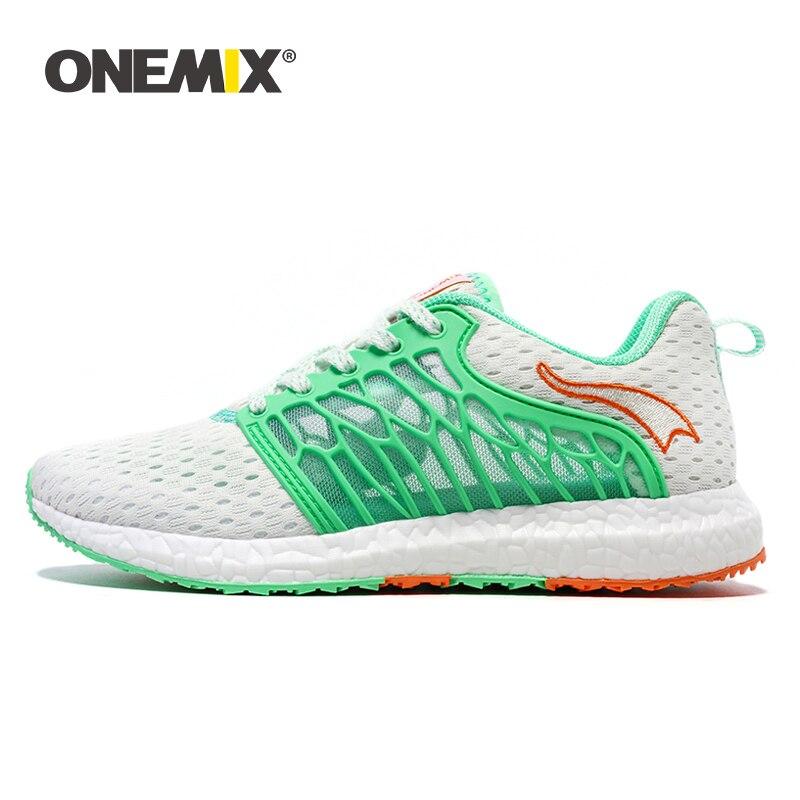 Onemix femmes baskets chaussures de course respirant maille léger confortable confortable Ventilation femme Plat chaussures de marche pour dames