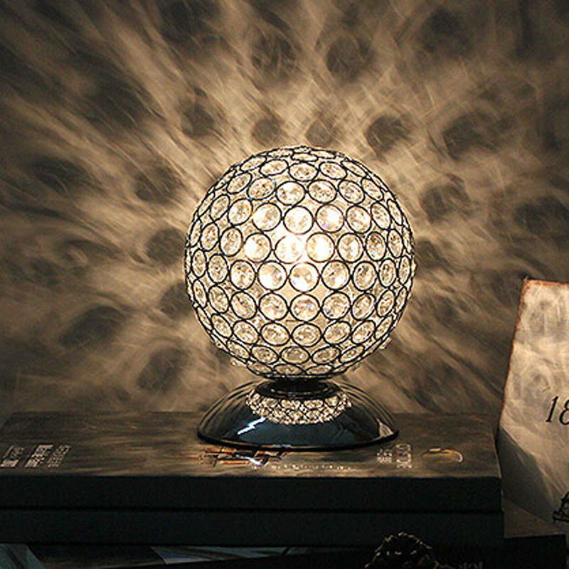 Modern K9 Crystal Table Lamp Bedside Living Room Office Lampshade Decoration Lighting E27 AC85-240V настольная лампа ul 00001805 uniel universal tli 225 white e27