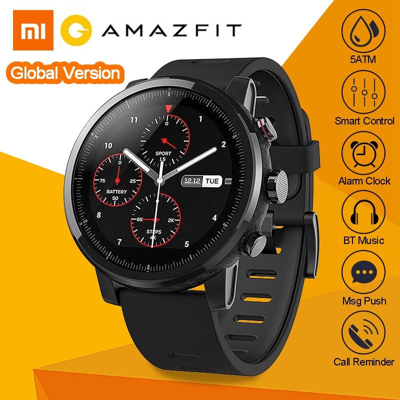 Internazionale Inglese Versione Xiaomi Huami AMAZFIT Stratos 2 GPS Intelligente Orologio Sportivo 5ATM Impermeabile Piscina All'aperto Smartwatch