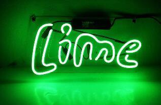 Custom Made Lime Neon Light Sign Beer Bar