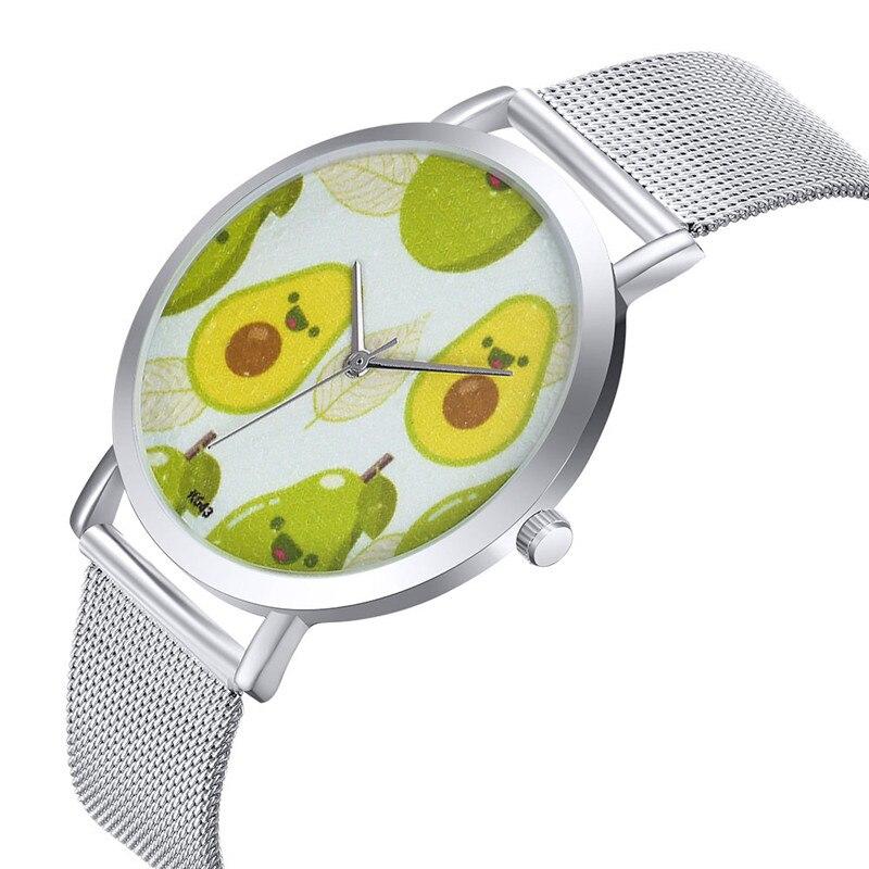 MJARTORIA Relojes Feminino Luxury Avocado Men Business Steel Bracelet Watch Couple Watches Brand Women Quartz Wristwatches Clock