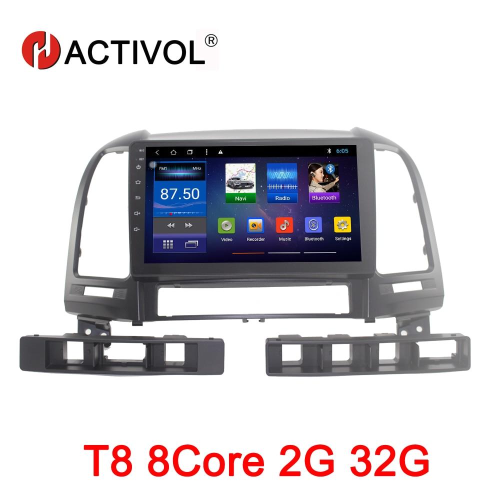 HACTIVOL Octa Core 2g RAM 32g Auto radio per Hyundai Santa Fe 2006-2012 Android 8.1 car lettore dvd di navigazione di gps wifi