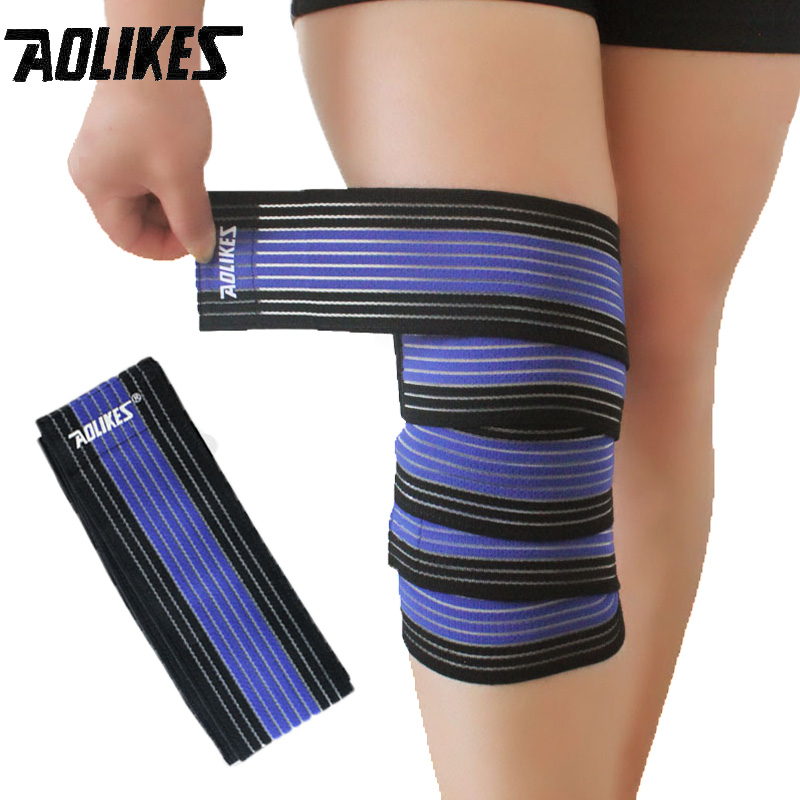 Hög Elastisk Bandage Knä Stöd Pad Varm Running Outdoor Sports Leggings Knäskydd Anti-sprain Medical Protective Gear 1 Piece