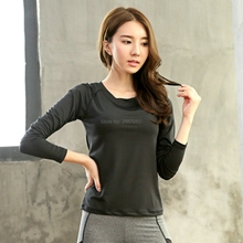 Compression Breathable Quick Dry Long Sleeves Women's T Shirt Body Building Girl Causal Slim Thin Tees Shirts Tops Black цена