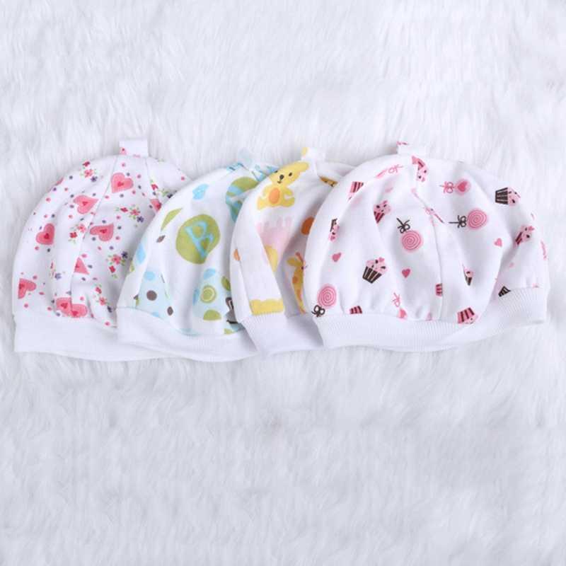 หมวกเด็กน่ารักอบอุ่นนุ่มผ้าฝ้ายผสมการ์ตูนทารกแรกเกิดเด็กวัยหัดเดินหมวก Unisex