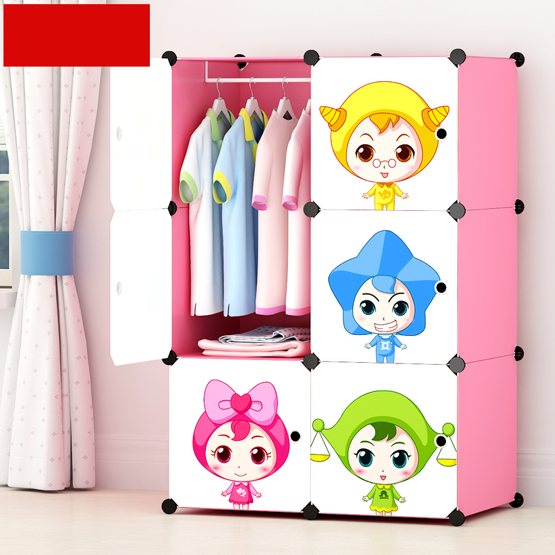 Cartoon Resin Wardrobe Closet Simple Kids Storage Cabinet Three Layer Reinforcement Receive Stowed Clothes Child Jj022 In Holders Racks