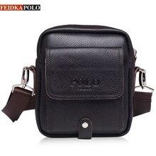 FEIDKAPOLO Brand Handbag Man Bag Small Fashion 100% Genuine Leather Bags Business Mens Shoulder Messenger Bags For Men Handbags