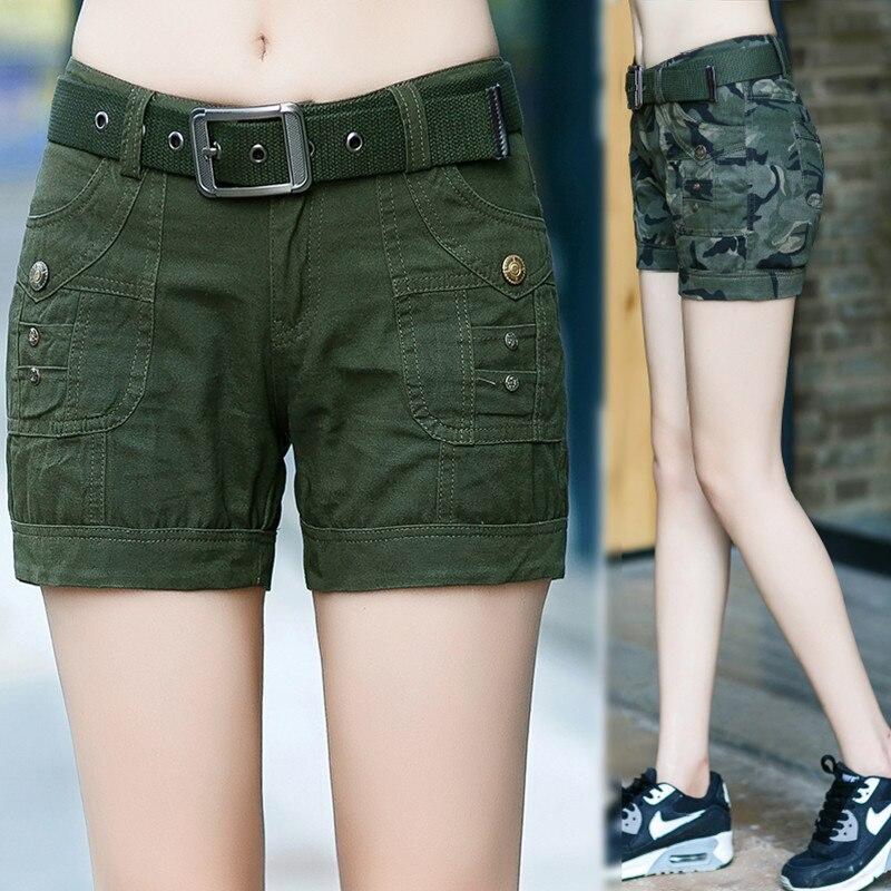 women military camouflage hot shorts Ladies girls military uniform Mini shorts overalls jeans Combat cargo shorts