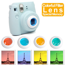 4PCS New 4 Colors Lens Filter Selfie Photo Camera For Fuji mini7/7s mini8/mini9 Accessories