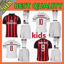 324d48fc8 Hot sale AC milan kids kit+socks 18 19 soccer jersey 2018 2019 football  shirt HIGUAIN BAKAYOKO child kit+socks Free shipping