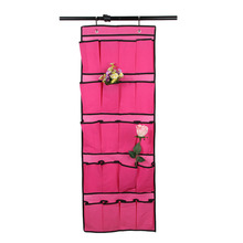 20 Grids Big Size Shoes Storage Organizer Box Home Hanging Bags Wall and Door Hang Storage