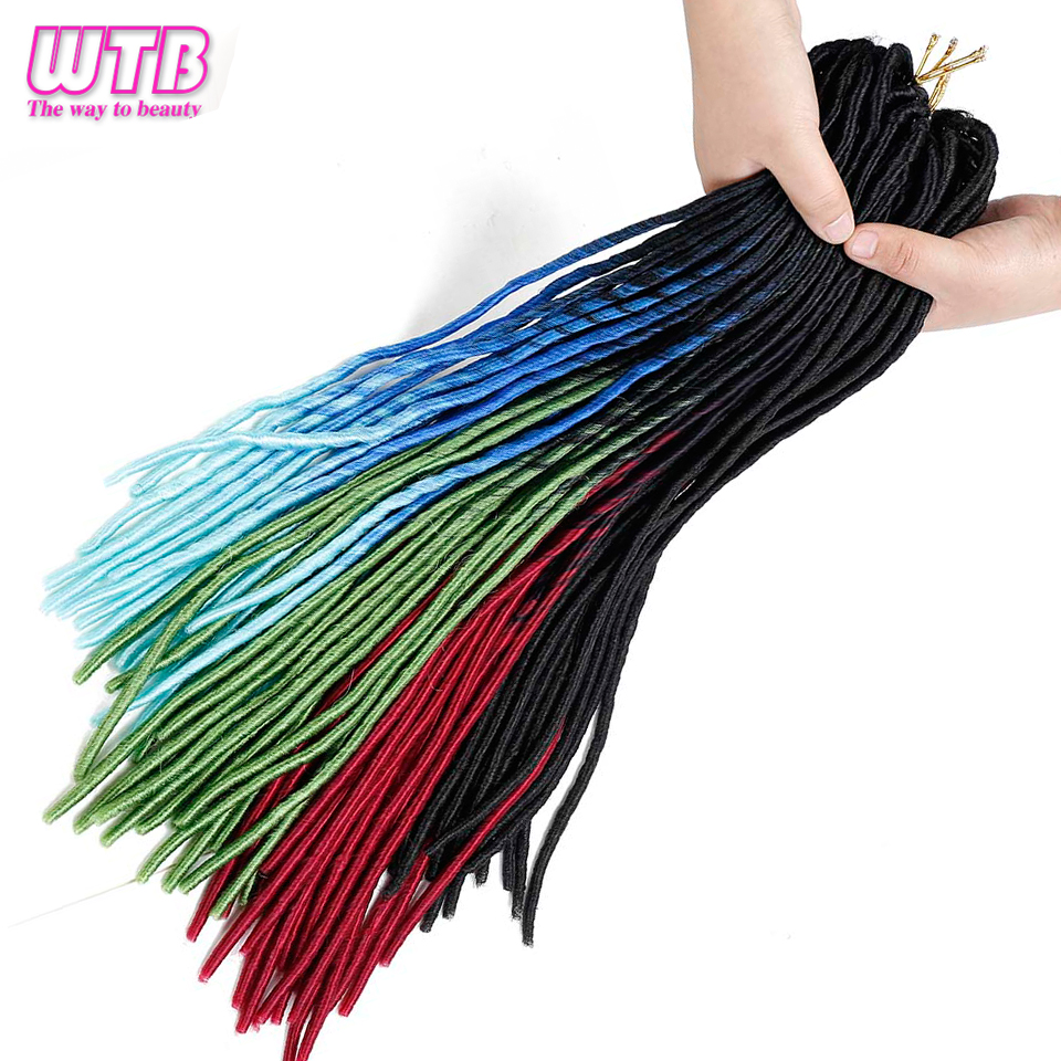 WTB Kanekalon Synthetic Braiding Hair Crochet Braids Locks Faux Locs Crochet Hair Extensions for Women