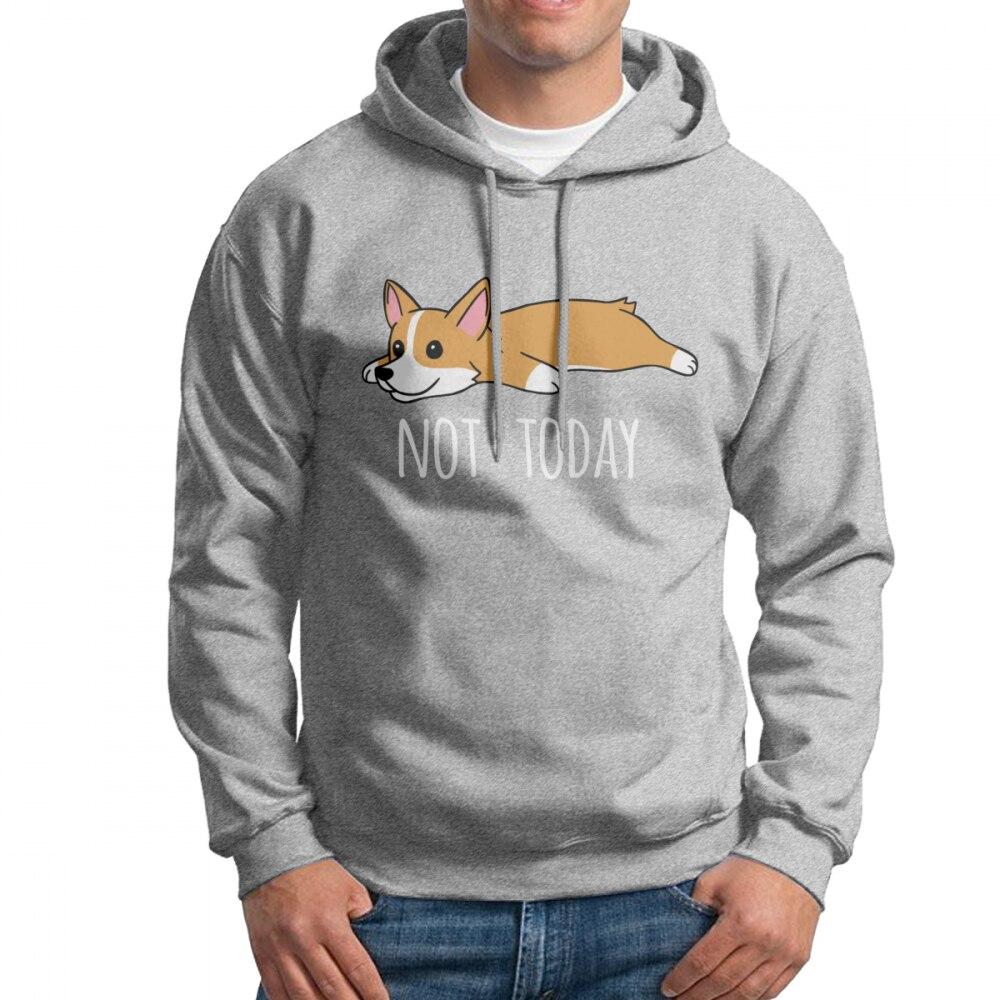 Hoodies & Sweatshirts Original Fashion Men Hoody Thick Corgi Hoodie Id Rather Be Home With My Corgi Dog Jacket Shirt Casual Funny Sweatshirt