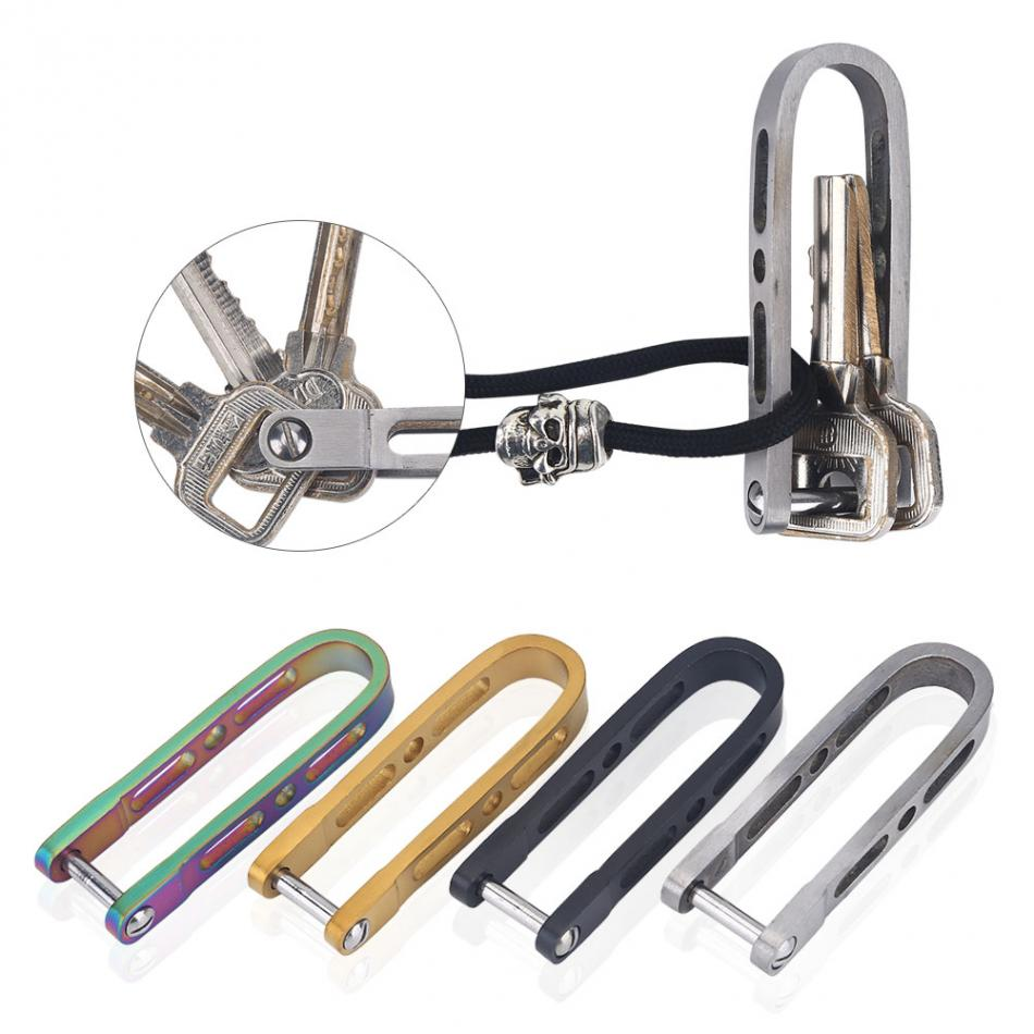 4colors Stainless Steel Edc Key Ring Wallets Men Key Holder New Design Keys Compact Organizer Clip Folder Pocket Tool Keychain Be Shrewd In Money Matters