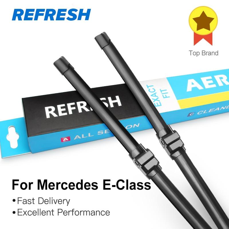 Escova de Para-brisa Refresh Apropriada para Mercedes Benz-Classe W211 W212 W213 Fit Side Pin Braços/Push Botão de Braços De 2003 a 2016