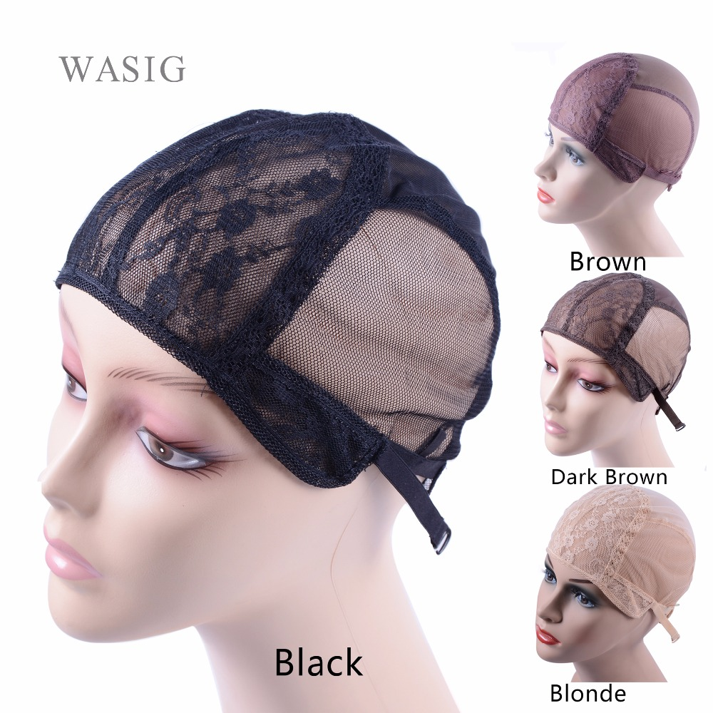 Wig cap for making wigs with adjustable strap on the back weaving cap size S/M/L glueless wig caps good quality chain