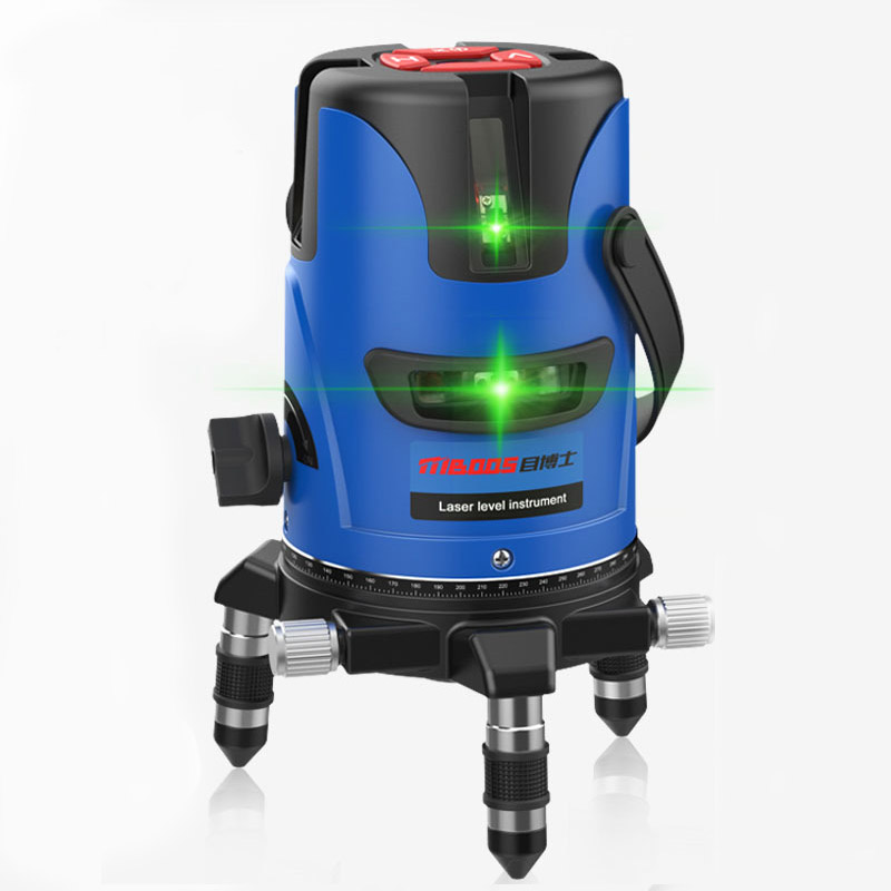 Laser level tools 6 points 360 degrees rotary 655nm green level 60 times super light line feeder 5 3 2 line marking instrument kapro clamp type high precision infrared light level laser level line marking the investment line