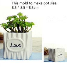 Big Square Ceramic Vase Silicone Mold for Concrete Handmade Flowerpot Making Tool Cement Planter Mould