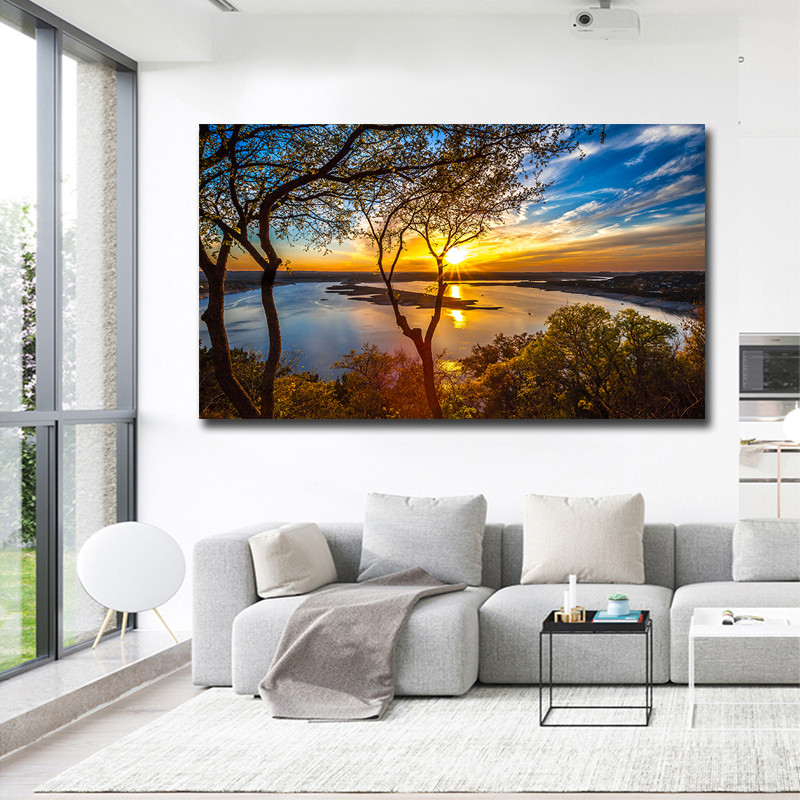 Poster Vintage Canvas Painting Modern Landscape Wall Art Living Room Print Picture Big Size Home Decoration Cuadros Art