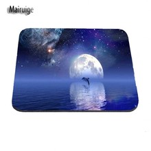 Dolphins Night 1pcs DIY pattern Background High quality Mice Mats Speed Game Silica gel Optics Black Mouse Pad Rubber Mices Pads