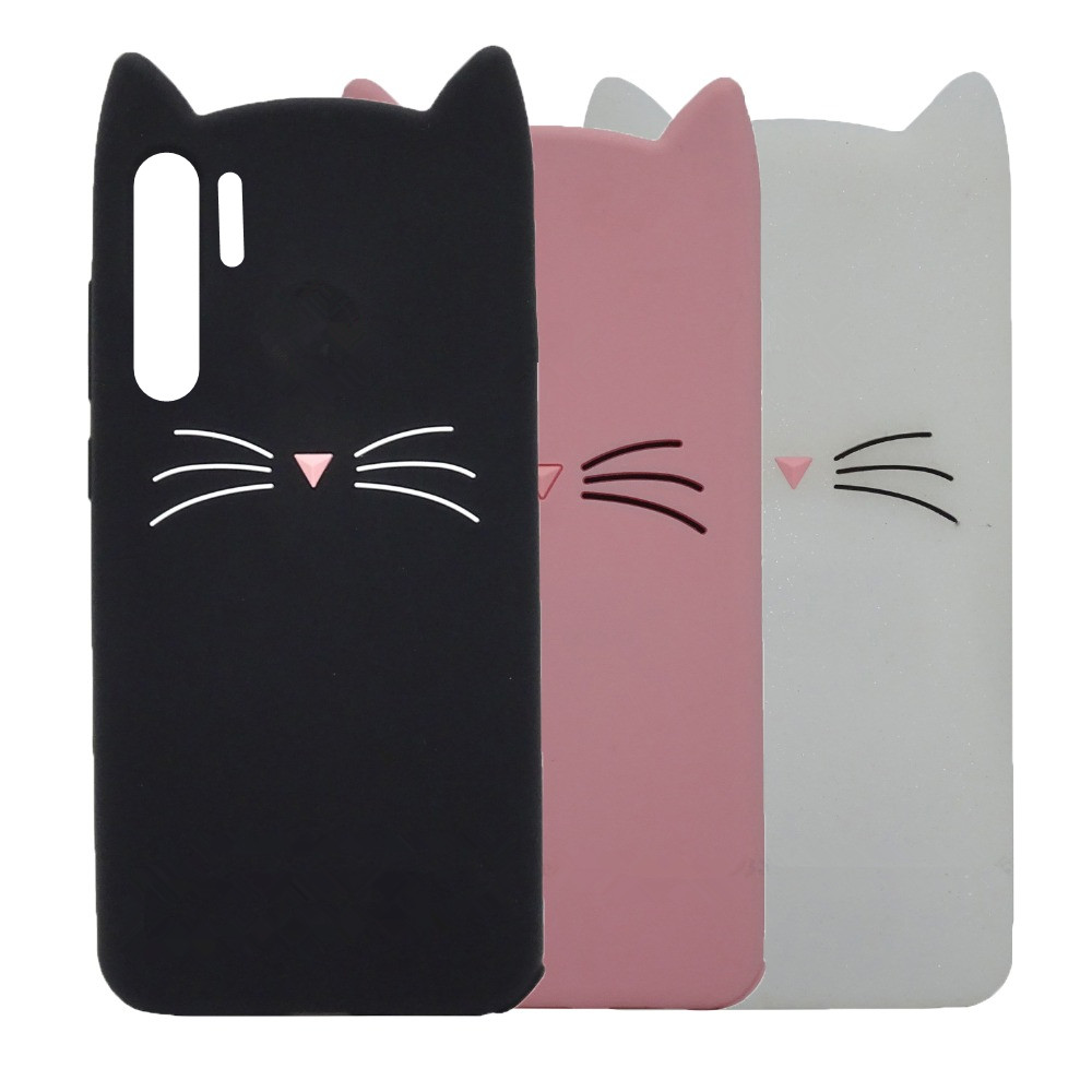 For Huawei P30 Pro Case huawei P30 3D Silicon Cat Cartoon Phone Back Cover For Huawei P30 Pro VOG-L29 ELE-L29 P 30 Lite Cases