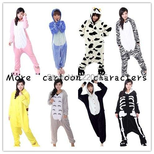 Unisex Adult Winter Animal Onesies Pajamas Set Flannel Sleepsuits Cosplay Sleepwear Cute Cartoon Garment animal slippers 6217 - iLoveSIA store
