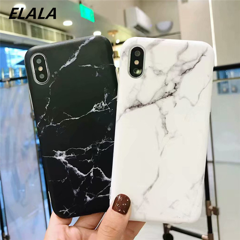 Funny Marble Case For Coque iPhone 6 6S 7 8 Plus X Xs Max XR Case Silicone Soft TPU Matte Phone Cover For iPhone XR X 7 8 6 Case