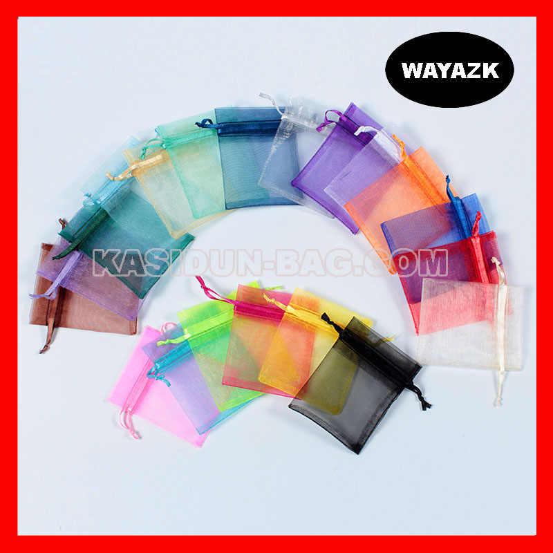 (200 шт./лот), размер 7x9 см, оптовая продажа, качественная маленькая ткань из органзы, Подарочная сумка на шнурке