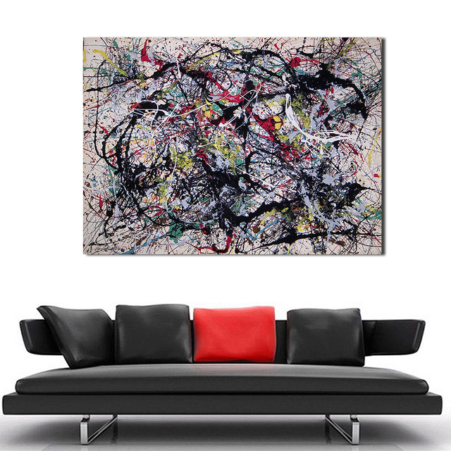 WANG ART Large Scale Abstraction Home Decor Canvas Print Picture Painting Wall Art Living Room Modern