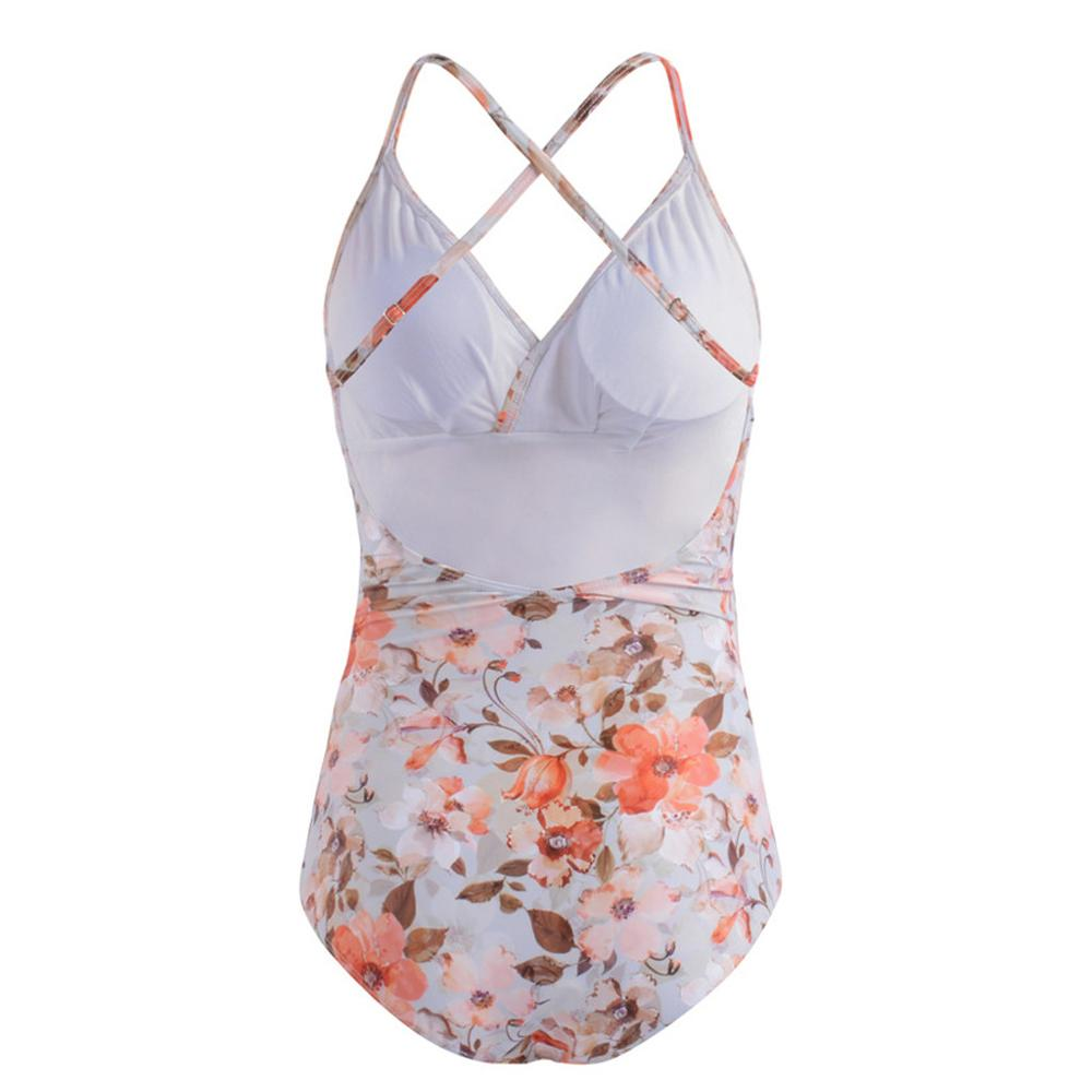 Pregnant Swimsuit Maternity Bikini Women Ruffles Frenulum Pure Color Beachwear Outdoor Casual Bathing Suit One piece Swimsuit in Body Suits from Sports Entertainment