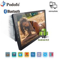 Podofo 2 din Автомагнитолы Android 8,0 dvd плеер автомобиля gps навигации Bluetooth видео плеер универсальный стерео CD Авторадио Мультимедиа