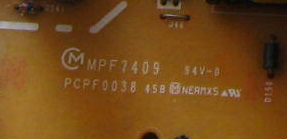 42PD5000TC 42PD5000TC power panel MPF7409 PCPF0038 is used 42pfl9509 power panel 2300kpg109a f is used