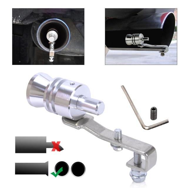 Citall Car Turbo Sound Whistle Muffler Exhaust Pipe Blow Off Valve
