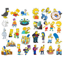 1 PCS The Simpsons Anime Decor Cute Aesthetic Bullet Journal Stickers Scrapbooking Stationery Sticker Flakes Art Supplies(China)