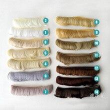 30 pçs boneca russa tress curto 5 cm cabelo sintético para perucas de boneca diy