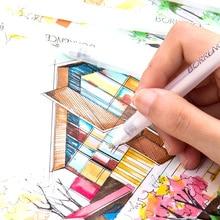 4Pcs/set White Highlight Marker Pen Manga Painting Design Graffiti Fineliner Sketch Pen Writing Drawing Art Stationery Supplies black card white highlight marker pens art hand painted pen sketch pens for diy drawing graffiti art supplies school stationery