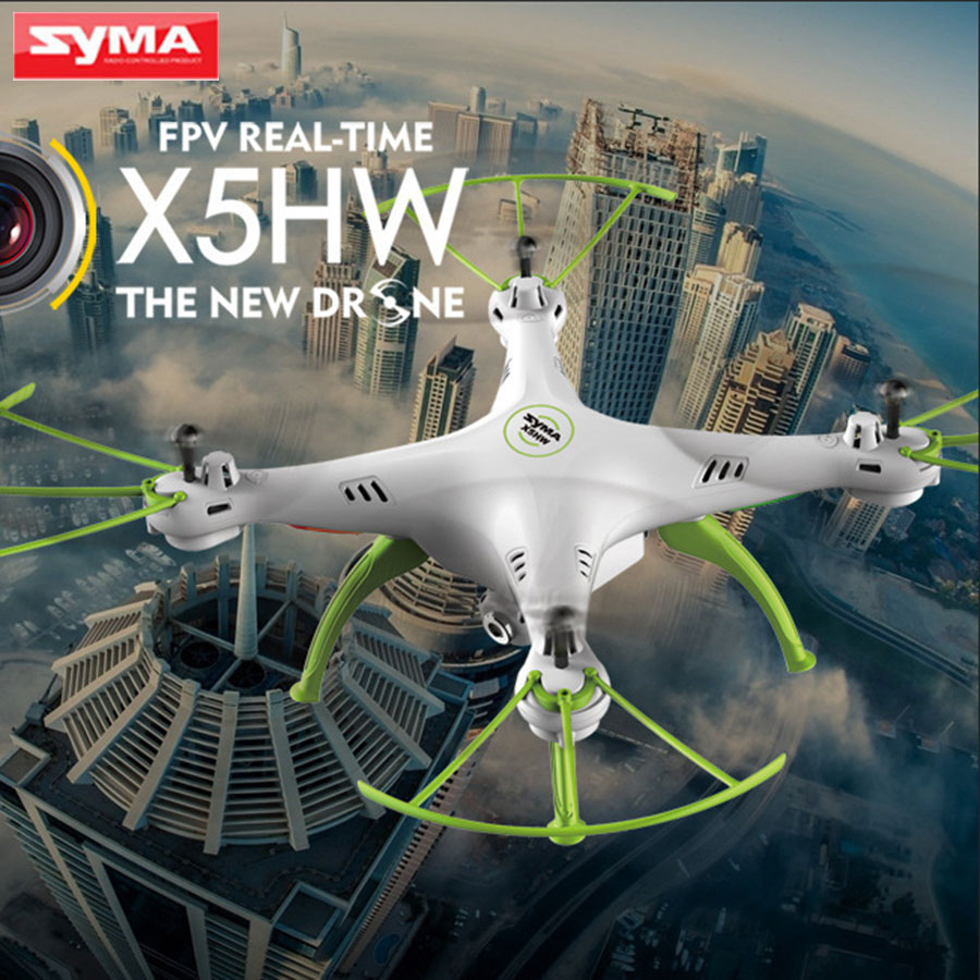 SYMA X5HW FPV Quadcopter 2.4G 4CH 6-Axis with HD Camera WIFI RC Helicopter Real Time Drone Headless mode Children Toys rc drones quadrotor plane rtf carbon fiber fpv drone with camera hd quadcopter for qav250 frame flysky fs i6 dron helicopter