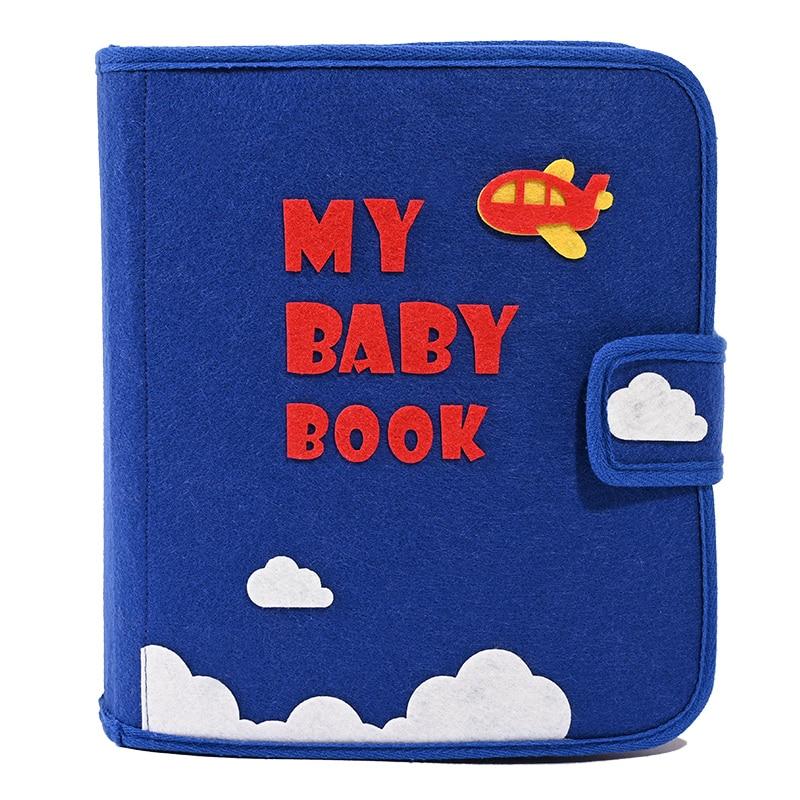 Caseiro Montessori Aprendizagem Primeiro Livro Tranquila 24X21 CENTÍMETROS Sentiu Livro de Educação Precoce Do Bebê Mãe Livro de Fotos DIY Sentiu pacote DIY