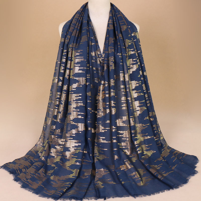 New Women Fashion Plain Glitter Circle Dot Viscose Shawl Scarf Ladies Iron Shimmer Wrap Neck Snood Muslim Islamic Hijab 190*90cm