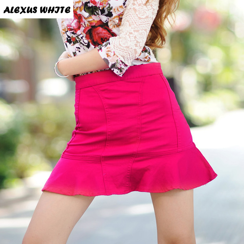Popular Red Denim Skirt-Buy Cheap Red Denim Skirt lots from China ...