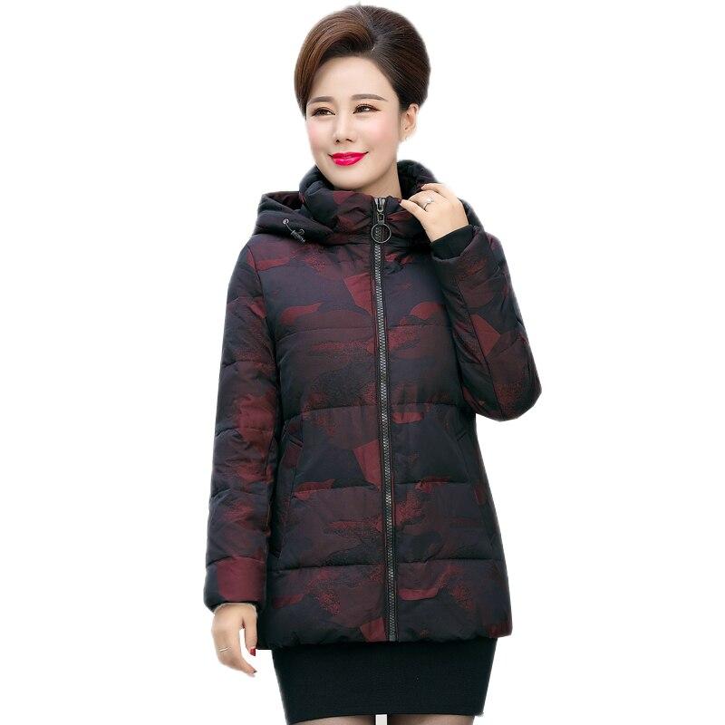 Зимняя утепленная куртка среднего возраста Для женщин 90% Белые парки с гусиным пухом пальто Женская мода с капюшоном пальто теплая Повседне...