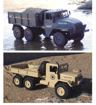 RC Cars 6WD Tracked Off-Road 1:16 2.4g Remote Control Military Truck Speed Car Radio-controlled Toys