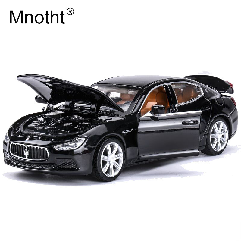 Mnotht 1/32 Alloy Maserati Ghibli Diecast Car Model Toy Vehicles Pull Back Sounds Lights Education Mini Kids Toy Car Model mo 1 32 alloy pull back toy car model musical