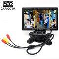 7 Pulgadas de 800x480 TFT LCD a Color Retrovisor Del Coche Del Vehículo AV Monitor HDMI VGA AV Con Grabador de Vídeo Digital DVR Sd tarjeta