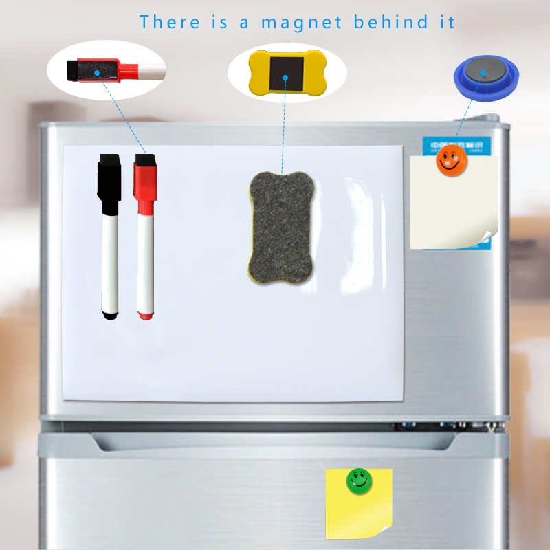 YIBAI Magnet Whiteboard A4 soft magnetic board, Dry Erase drawing and recording board For <font><b>Fridge</b></font> Refrigerator with Free gift