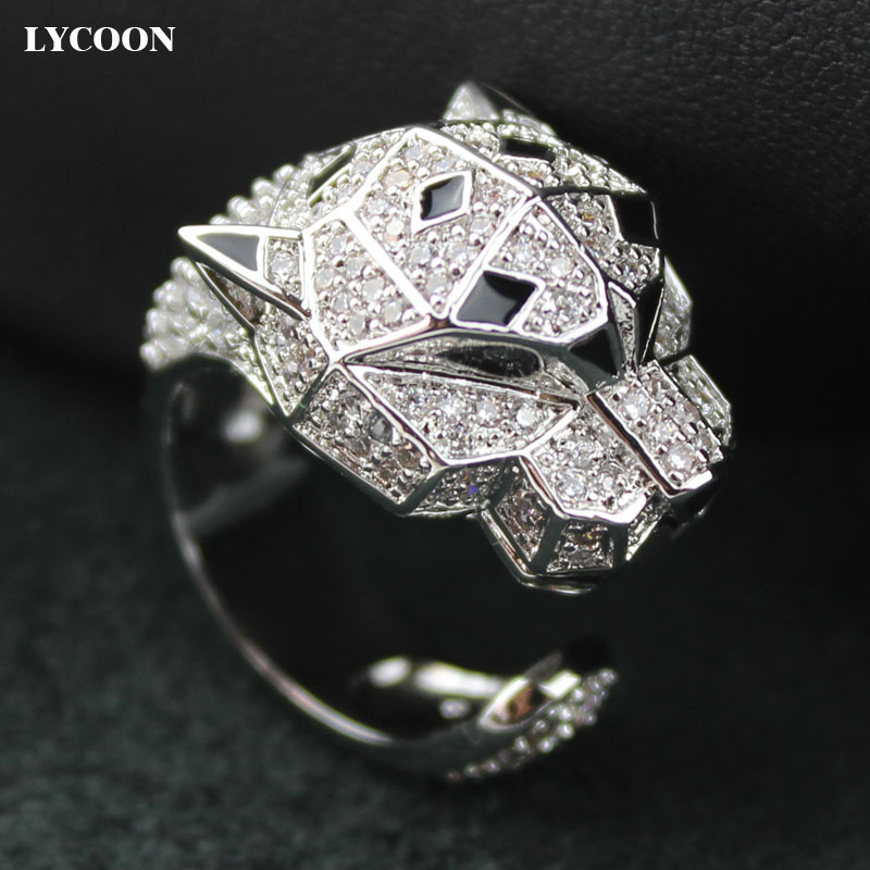 Classic design animal ring real silver plated prong setting Genuine Cubic Zirconia resin black eye rings for womenClassic design animal ring real silver plated prong setting Genuine Cubic Zirconia resin black eye rings for women