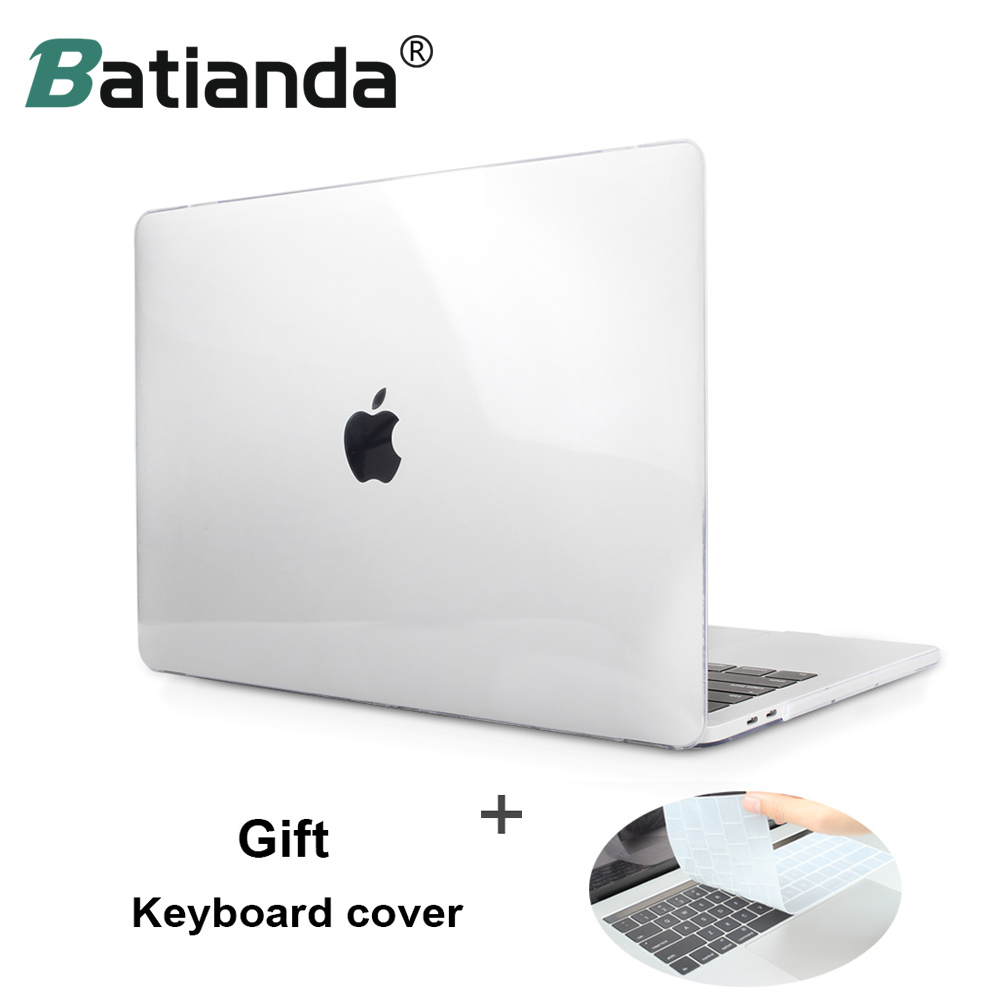 Crystal Frost Clear Hard Rubberized Laptop Case + Keyboard Cover For MacBook Pro 13 Air 13 11 Pro 15 Retina Touch Bar 2016 2017 free shipping gold transparent rubberized matte case hard cover for macbook air pro 11 13 15 with retina display without logo