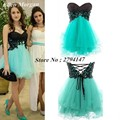 Cheap Short Homecoming Dresses Under 50 Sexy Above Knee Mini Tulle Sweetheart Black Top Back to School Graduation For Girls 2017